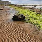 Sand Patterns On Robin Hoods Bay Beach Art Print