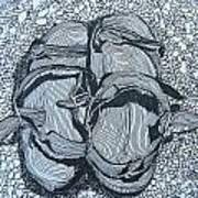 Sandals - Doodle  Art Print