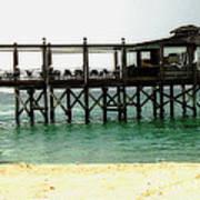 Sandals Resort Nassau Pier Art Print