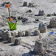 Sandcastle Squatters Print by Betsy Knapp