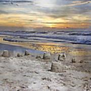 Sandcastle Sunrise Art Print