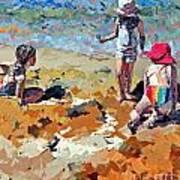 Sandcastles IIi Art Print