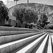 Sandpiper Stairs Bw Palm Desert Art Print