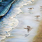 Sandpipers On The Beach Art Print