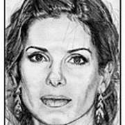 Sandra Bullock In 2005 Art Print