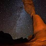 Sandstone Arch Meets Milky Way Skies Print by Mike Berenson