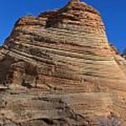 Sandstone Rock Formation Zion National Park Utah Art Print