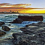 Sandy Beach Sunrise Art Print