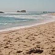 Sandy Beach With Glare  Art Print