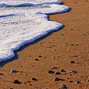 Sandy Foam Art Print