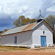 Sangre De Cristo Chapel In Cuartelez In New Mexico Art Print
