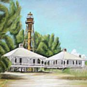 Sanibel Lighthouse Art Print