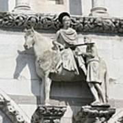 Sankt Martin Statue Lucca Art Print