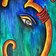 Sanskrit Om Ganesha Art Print