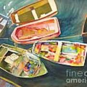 Santa Barbara Boats Art Print