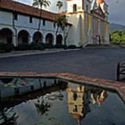 Santa Barbara Mission Reflections Art Print