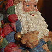 Santa Claus - Antique Ornament - 03 Art Print