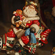 Santa Claus - Antique Ornament -05 Art Print