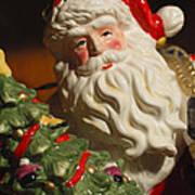 Santa Claus - Antique Ornament - 10 Art Print by Jill Reger