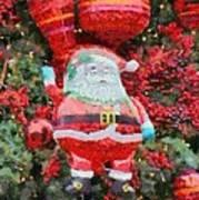Santa Claus Balloon Art Print
