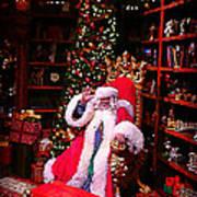 Santa Claus Greeting Art Print by Scott Allison
