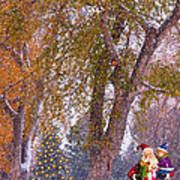 Santa Claus In The Snow Art Print
