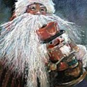 Santa Claus St Nick And The Nutcracker Art Print