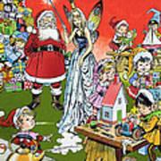 Santa Claus Toy Factory Print by Jesus Blasco