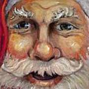 Santa Closeup Art Print by Sheila Kinsey