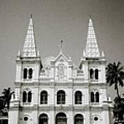 Santa Cruz Basilica In Cochin Art Print