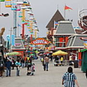 Santa Cruz Beach Boardwalk California 5d23625 Print by Wingsdomain Art and Photography