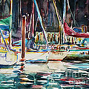 Santa Cruz Dock Art Print