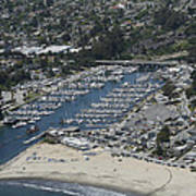 Santa Cruz Harbor Art Print