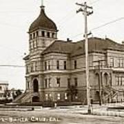 Santa Cruz High School On Walnut Street. Circa 1910 Photo By Besaw Art Print