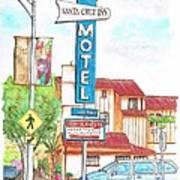 Santa Cruz Inn Motel In Riverside - California Art Print by Carlos G Groppa