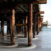 Santa Cruz Pier California Art Print