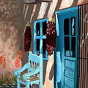 Santa Fe Courtyard Art Print