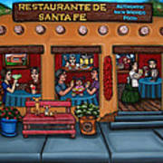 Santa Fe Restaurant Art Print by Victoria De Almeida