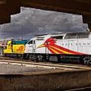 Santa Fe Train Art Print