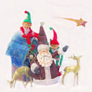 Santa Gets Ready Art Print