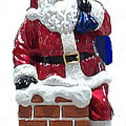 Santa Greeting Card Art Print