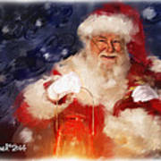 Santa Is Comin' To Town Art Print