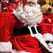 Santa Is Ready Art Print
