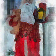 Santa Merry Christmas Photo Art 02 Art Print