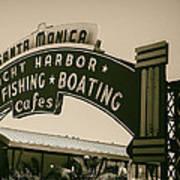 Santa Monica Pier Sign Art Print