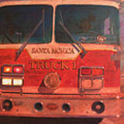 Santa Monica Truck One Art Print