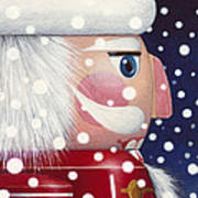 Santa Nutcracker Art Print