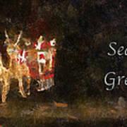 Santa Season Greetings Photo Art Art Print