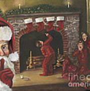 Santa Surprise Art Print by Kimberly Daniel