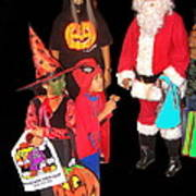 Santa Trick Or Treaters Halloween Party Casa Grande Arizona 2005 Art Print